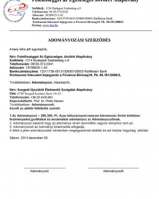 2013 dec.Szegedi Újszülött természetbeni átadás